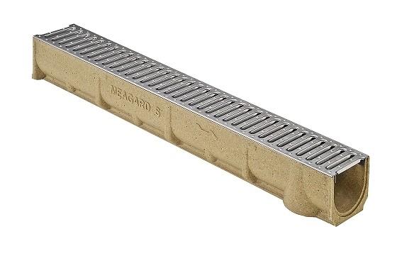 RONN SELF ECO 100 odvodňovací žlab s aretovým ocelovým roštem 1 m