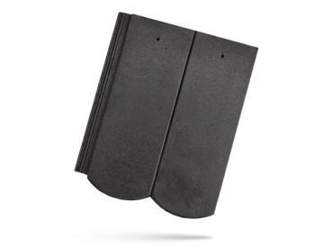 BRAMAC REVIVA betonová taška základní 1/1 ebenově černá (cena za 1 ks)