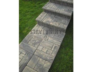 Betonová Selská dlažba 39x39 (imitace dřeva) (cena za 1 ks)