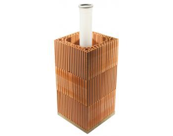 HELUZ Komínový komplet PLYN cihelný komín 6,5 m / prům. 80 (cena za 1 ks)
