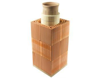 HELUZ Komínový komplet IZOSTAT cihelný komín 6,5 m / prům. 180 (cena za 1 ks)