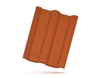 BRAMAC CLASSIC PROTECTOR betonová taška základní 1/1 cihlově (cena za 1 ks)