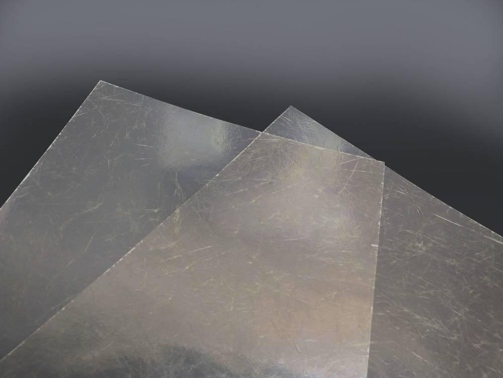 Ploché role - sklolaminát barva čirá 0,65mm (cena za 1 m2)