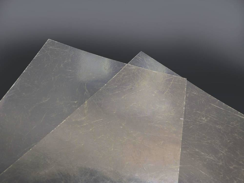 Ploché role - sklolaminát barva čirá 0,85mm odvinutý (cena za 1 m2)
