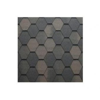 TEGOLA SHINGLE LINE PREMIUM MOSAIK 020 2-TONE BROWN
